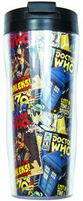 Dr Who Comic Lidded Travel Mug (C: 1-1-1)