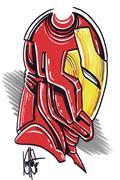 DF Avengers #1 Blank Haeser Sgn Iron Man Sketch (C: 0-1-2)