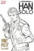 DF Star Wars Han Solo #1 Nicieza & Delbeato Sgn (C: 0-1-2)