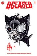 DF Dceased #1 Sgn Rmrk Haeser Catwoman Sketch