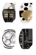Doctor Who Gold & Black Silicon Spatula 4Pk