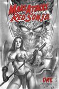 Mars Attacks Red Sonja #1 20 Copy Parrillo B&W Incv