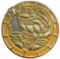 TMNT Michelangelo Antique Gold Numbered Pin (C: 1-1-2)