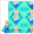 Frozen Elsa Hugger Plush W/Fleece Throw (C: 1-1-2)