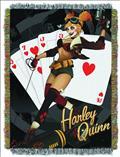 DC Bombshells Harley Quinn Woven Tapestry Blanket PX (C: 1-1