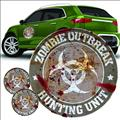 Zombie Hunting Unit Grey Logo Decal Set (Net) (C: 1-1-1)