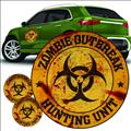 Zombie Hunting Unit Orange Logo Decal Set (Net) (C: 1-1-1)