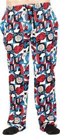 Marvel Captain America All Over Print Sleep Pant Med (Net) (
