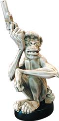 Mike Mignola Monkey With A Gun Bone Statue (Net) (C: 0-1-2)
