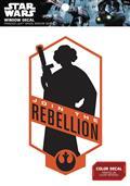 Star Wars Princess Leia Join The Rebellion Window Decal (C: