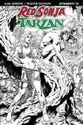 Red Sonja Tarzan #1 Cvr H 30 Copy Lopresti B&W Incv (Net)