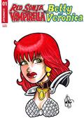 Red Sonja Vampirella Betty Veronica #1 Red Sonja Rmrk (C: 0-