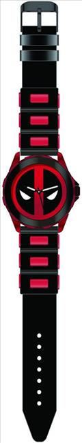Marvel Deadpool Black/Red Wristwatch W/Rubber Strap (C: 1-1-