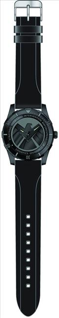 Marvel Agents of Shield Black Wristwatch W/Rubber Strap (C: