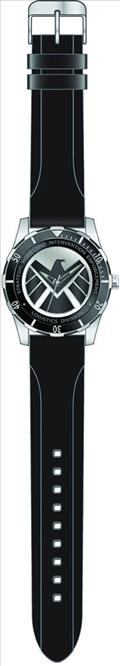 Marvel Agents of Shield Silver Wristwatch W/Rubber Strap (C: