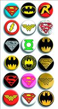 DC Comics Logos Ser1 144Pc Button Asst (Net) (C: 1-1-1)