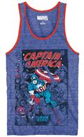 Captain America Issue 112 Royal Snow Heather Tank Lg (C: 1-1