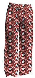 Capt America Storm Shield Aop Blk Heather Sleep Pants Lg (C: