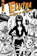 Elvira Mistress of Dark #1 Cvr I 30 Copy Strahm B&W (Net)