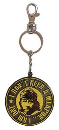 Tough Guy Missing In Action Face Weapon Metal Keychain (C: 1