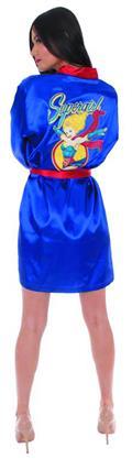 DC Bombshells Supergirl PX Satin Robe Lg/Xl (O/A) (C: 1-1-2)