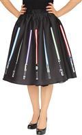 Star Wars Saber Circle Skirt Black Lg (C: 0-1-0)