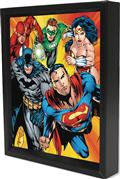 Justice League Heroes Lenticular 3D Shadowbox (C: 1-1-0)