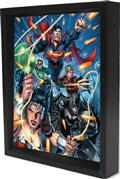 Justice League Attack Lenticular 3D Shadowbox (C: 1-1-0)