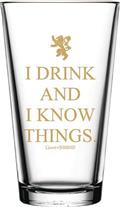 Got I Drink And I Know Things 16Oz Pint Glass 4Pc Set(C: 1-1-1)