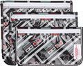 Nintendo Nes Controller Print 3 Pack Clear Travel Bag (C: 1-
