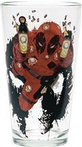 Toon Tumblers Deadpool Shooting Clear Pint Glass (C: 1-1-2)