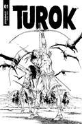 Turok #1 40 Copy Guice B&W Incv (Net)