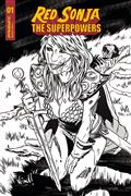 Red Sonja The Superpowers #1 15 Copy Federici Zombie B&W Inc