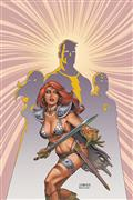 Red Sonja The Superpowers #1 Linsner Ltd Virgin Cvr