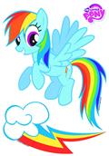 Mlp Rainbow Dash Car Graphics Set (C: 1-1-1)