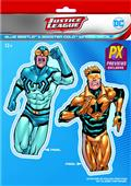 DC Heroes Booster Gold & Blue Beetle PX Vinyl Decal (C: 1-1-