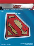 DC Justice League Superman Dimensional Logo Vinyl Decal (C:
