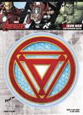 Marvel Avengers Iron Man Reactor Logo Vinyl Decal (C: 1-1-1)