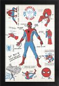 Spider-Man Infographic Framed 11X17 Print (C: 1-1-2)