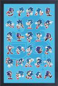 Sega Sonic 30Th Poses Through The Years 11X17 Framed Print (