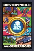 Sega Sonic 30Th Unstoppable Gold Ring 11X17 Framed Print (C: