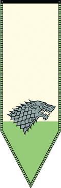 Game of Thrones House Stark Banner Winterfell Reclaimed Ver