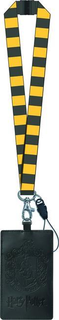 Harry Potter Hufflepuff Crest Lanyard W/ Card Holder (C: 1-1