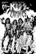 Kiss Zombies #1 30 Copy Buchemi B&W Incv