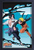 Naruto Shippuden Sasuke vs Naruto 11X17in Framed Poster (C: