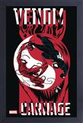 Marvel Venom And Carnage Red And Black 11X17 Framed Print (C
