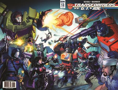 TRANSFORMERS VS GI JOE #13 ROLL OUT ROLL CALL VAR
