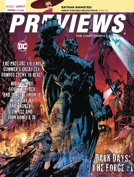 PREVIEWS #345 JUNE 2017 (Net)  Includes a FREE Marvel Previews