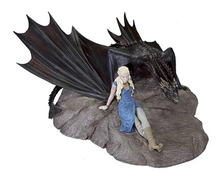 GAME OF THRONES STATUETTE DAENERYS & DROGON (C: 1-0-0)