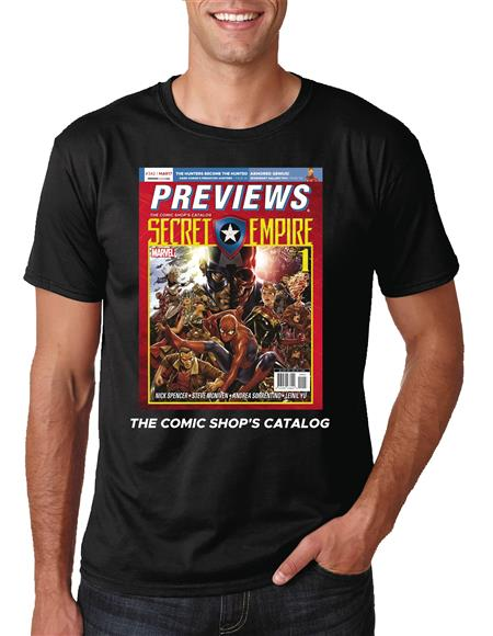 PREVIEWS COVER MARVEL SECRET EMPIRE BLK T/S XXXL (Net)
